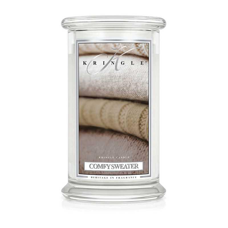 Kringle Candle Comfy Sweater - duża świeca zapachowa - Candlelove