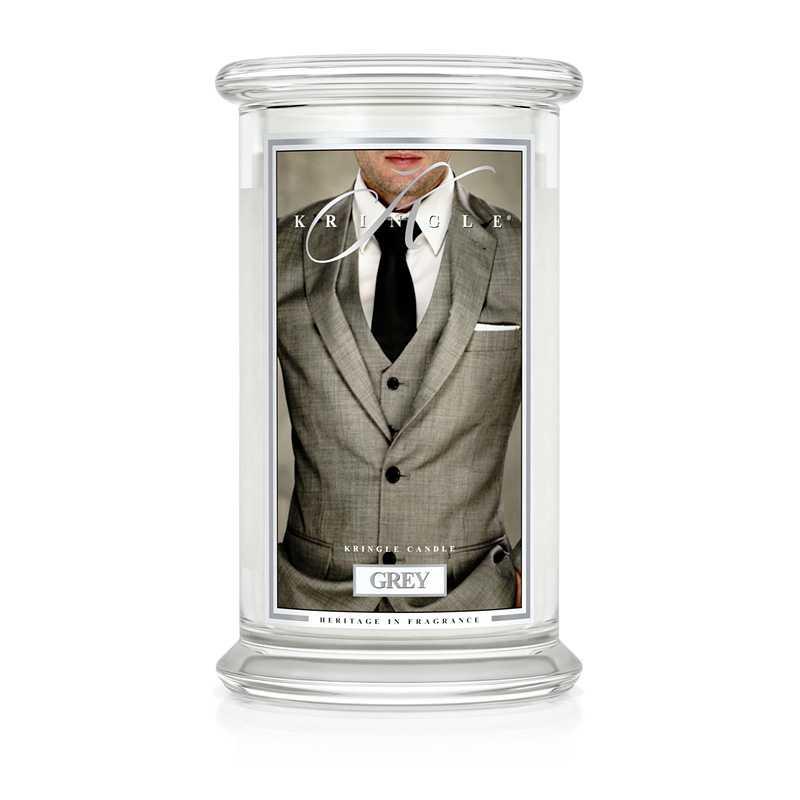 Kringle Candle Grey - duża świeca zapachowa - Candlelove