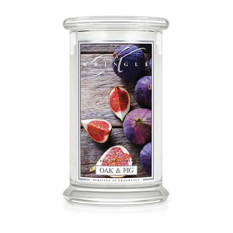 Kringle Candle OAK & Fig- duża świeca zapachowa - Candlelove