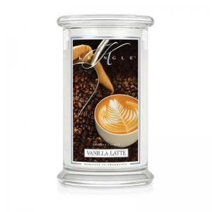 Kringle Candle Vanilla Latte- duża świeca zapachowa.