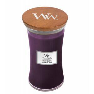 WoodWick Velvet Tobacco - duża świeca zapachowa - candlelove