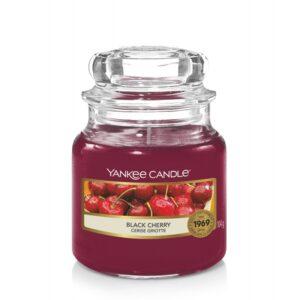Yankee Candle Black Cherry - mała świeca zapachowa - e-candlelove