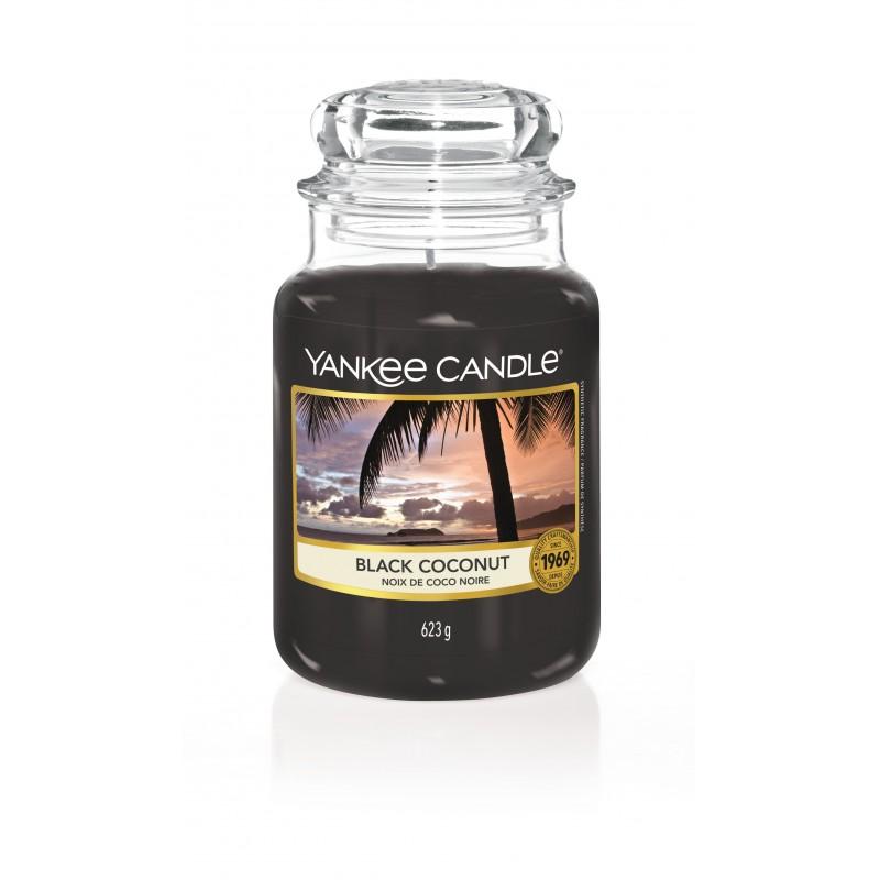 Yankee Candle Black Coconut - duża świeca zapachowa - Candlelove