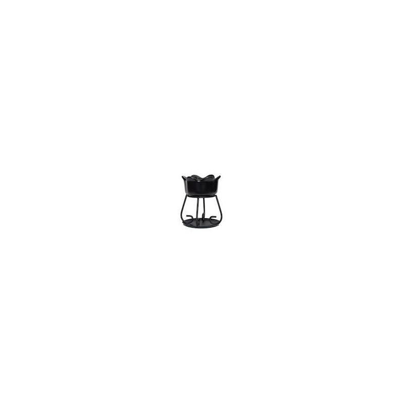 Yankee Candle Petal bowl - kominek zapachowy czarny - Candlelove
