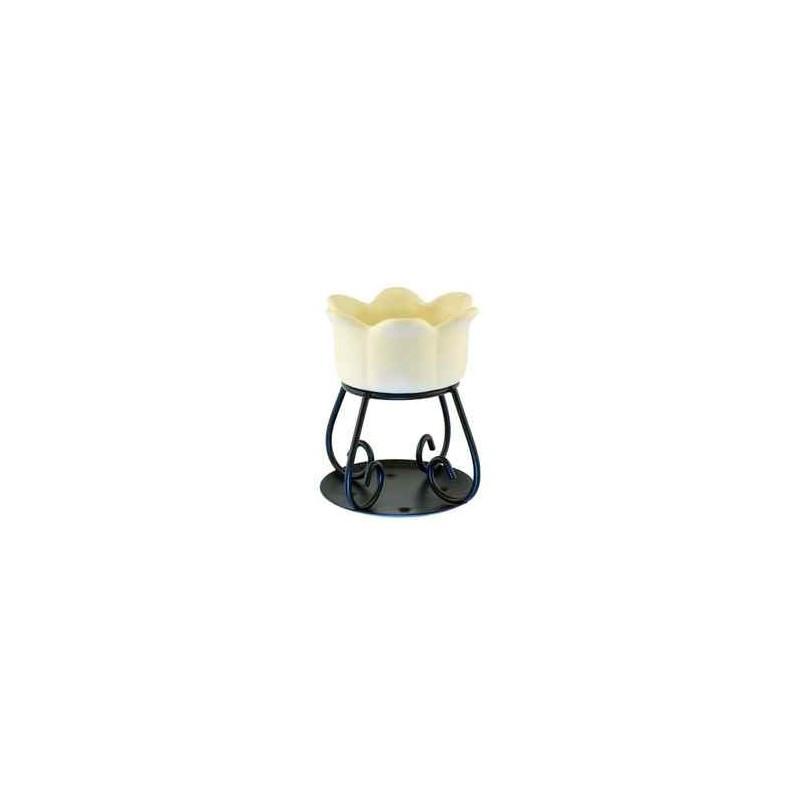 Yankee Candle Petal bowl - kominek zapachowy kremowy - Candlelowe