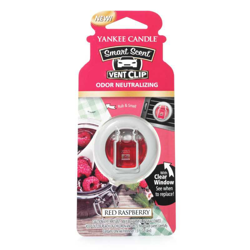 Yankee Candle Red Raspberry Car Vent Clip - zapach samochodowy - Candlelove