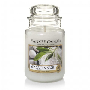 Yankee Candle Sea Salt & Sage - świeca duża - Candlelove