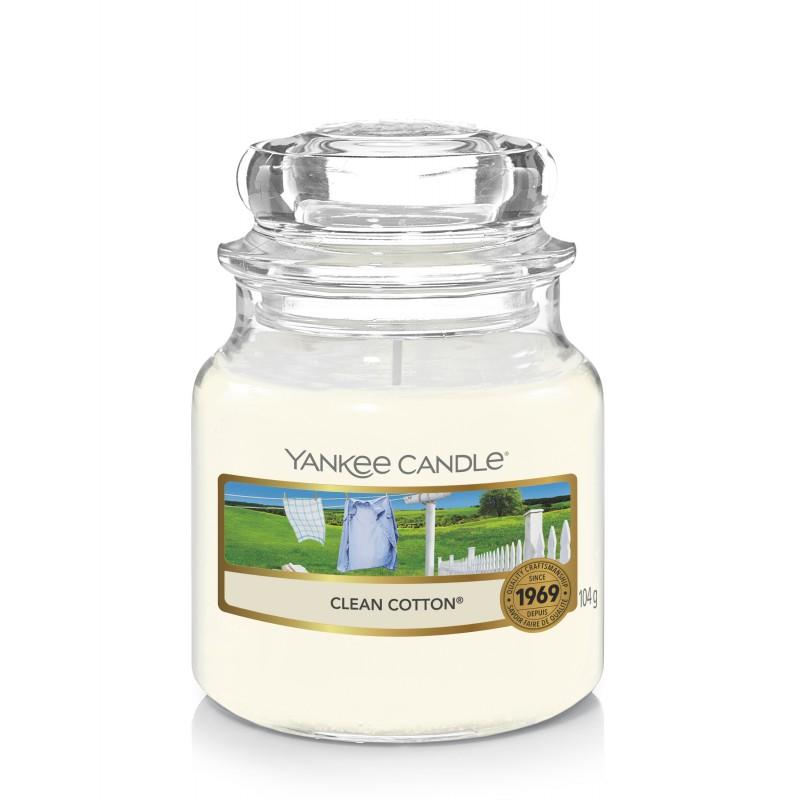 Yankee Candle Clean Cotton - mała świeca zapachowa - e-candlelove