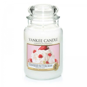 Yankee Candle Strawberry Buttercream - świeca duża - Candlelove