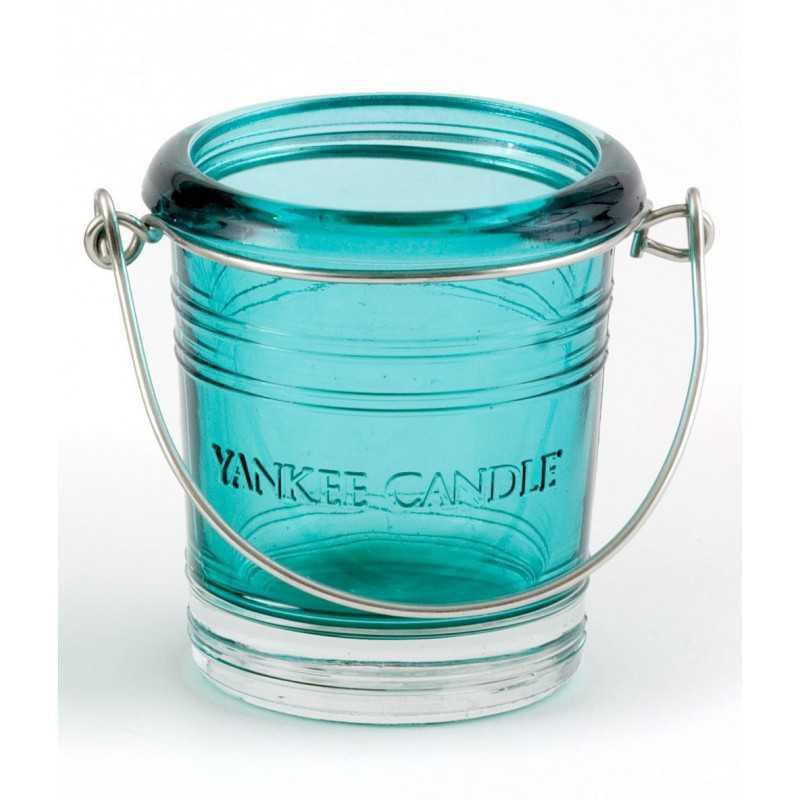 Yankee Candle Bucket - świecznik na samplery seledynowy - e-candlelove