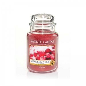 Yankee Candle Cranberry Ice - duża świeca zapachowa - e-candlelove