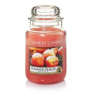 Yankee Candle Summer Peach - duża świeca zapachowa - e-candlelove