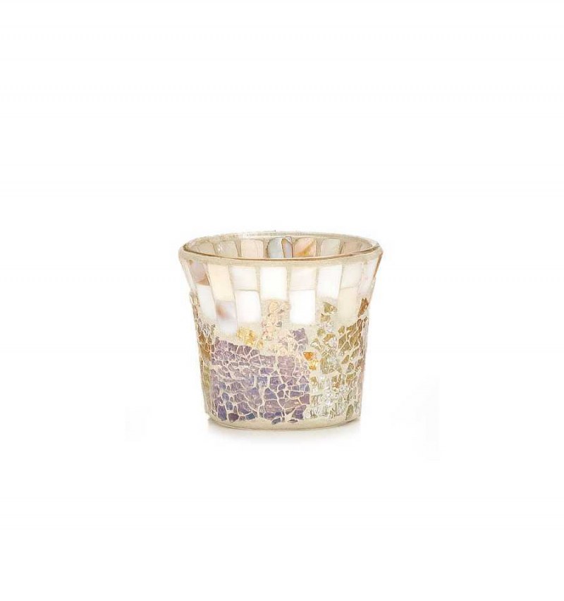 Yankee Candle Gold and pearl Mosaic - świecznik na samplery - e-candlelove