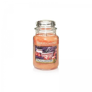Yankee Candle Peach & Lavender - duża świeca zapachowa - e-candlelove