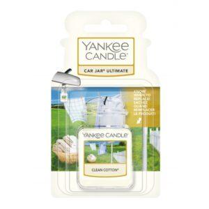 Yankee Candle Clean Cotton Car Jar Ultimate - zapach samochodowy - e-candlelove