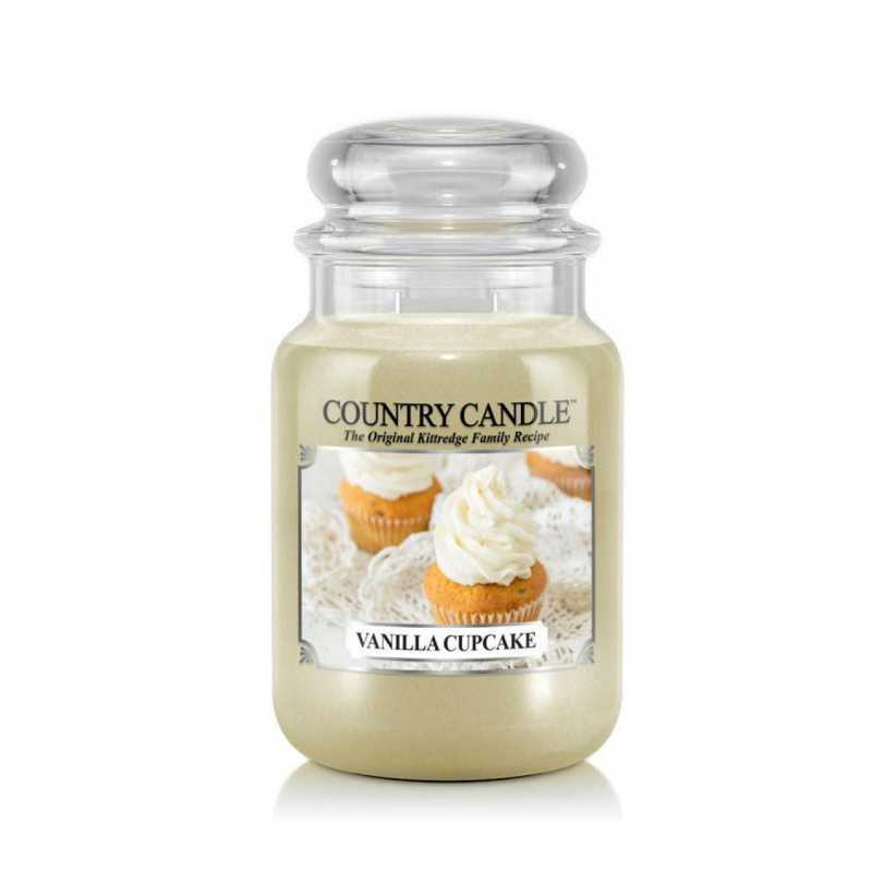 Country Candle Vanilla Cupcake - duża świeca zapachowa - e-candlelove