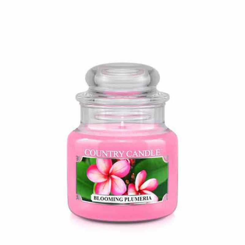 Country Candle Blooming Plumeria - mała świeca zapachowa - e-candlelove