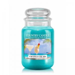 Country Candle Coconut Colada - duża świeca zapachowa - e-candlelove