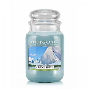Country Candle Cotton Fresh - duża świeca zapachowa - e-candlelove