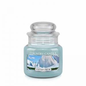 Country Candle Cotton Fresh - mała świeca zapachowa - e-candlelove