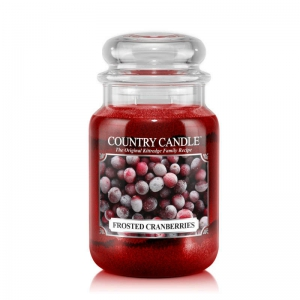 Country Candle Frosted Cranberries - duża świeca zapachowa - e-candlelove
