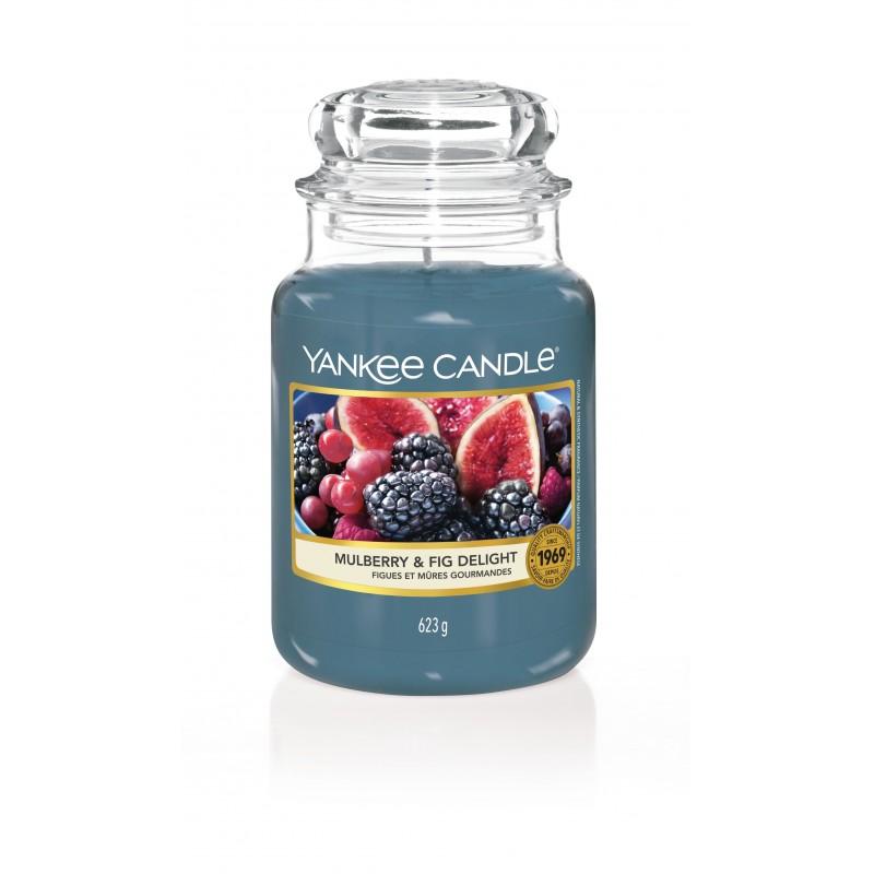Yankee Candle Mulberry & Fig Delight - duża świeca zapachowa - e-candlelove