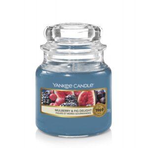 Yankee Candle Mulberry & Fig Delight - mała świeca zapachowa - e-candlelove