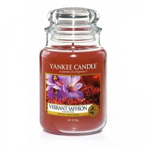 Yankee Candle Vibrant Saffron - duża świeca zapachowa - e-candlelove