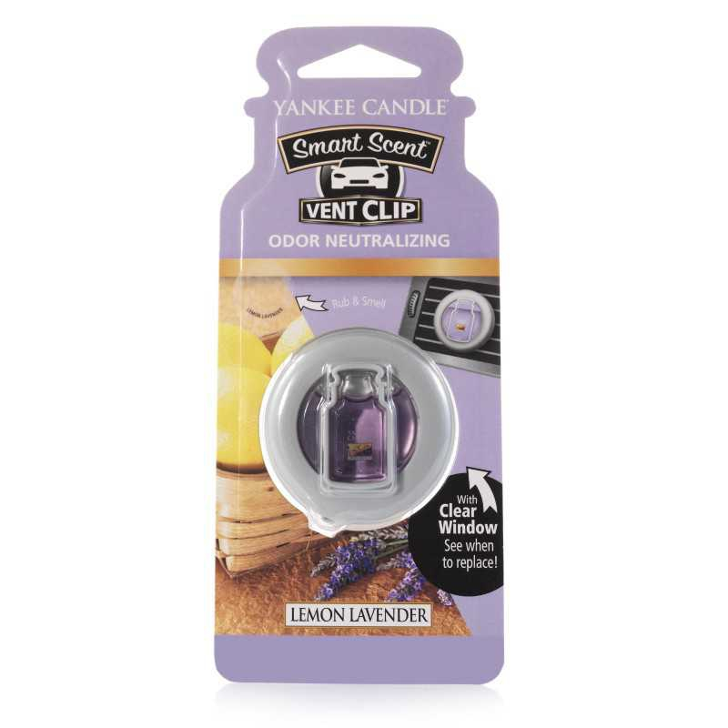 Yankee Candle Lemon Lavender Car Vent Clip - zapach samochodowy - e-candlelove