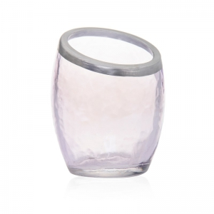 Yankee Candle Pearlescent Crackle - świecznik na samplery fioletowy - e-candlelove
