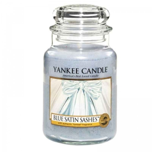 Yankee Candle Blue Satin Sashes - duża świeca zapachowa - e-candlelove