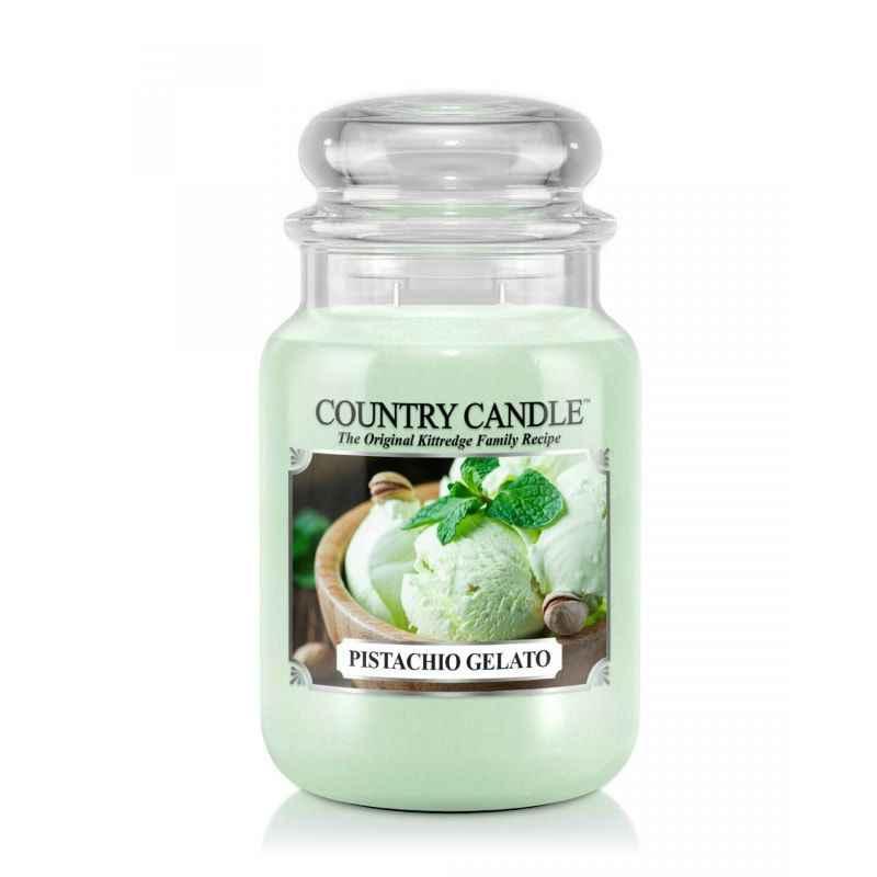 Country Candle Pistachio Gelato - duża świeca zapachowa - e-candlelove