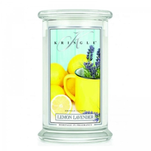 Kringle Candle Lemon Lavender - duża świeca zapachowa - e-candlelove