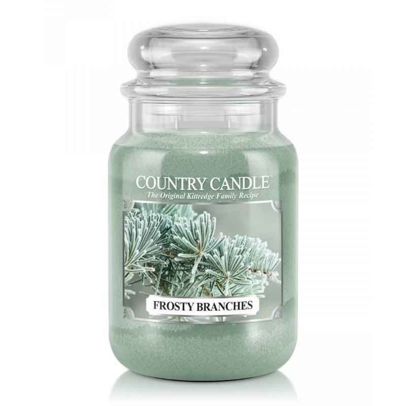 Country Candle Frosty Branches - duża świeca zapachowa - e-candlelove