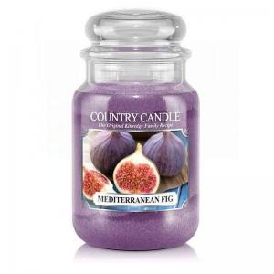 Country Candle Mediterranean Fig - duża świeca zapachowa - e-candlelove