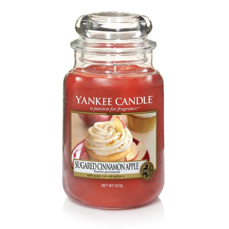 Yankee Candle Sugared Cinnamon Apple - duża świeca zapachowa - e-candlelove