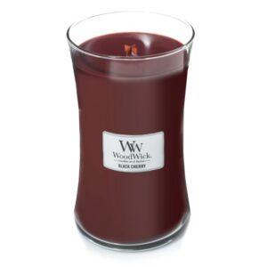WoodWick Black Cherry - duża świeca zapachowa - candlelove