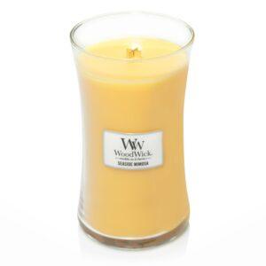 WoodWick Seaside Mimosa - duża świeca zapachowa - candlelove