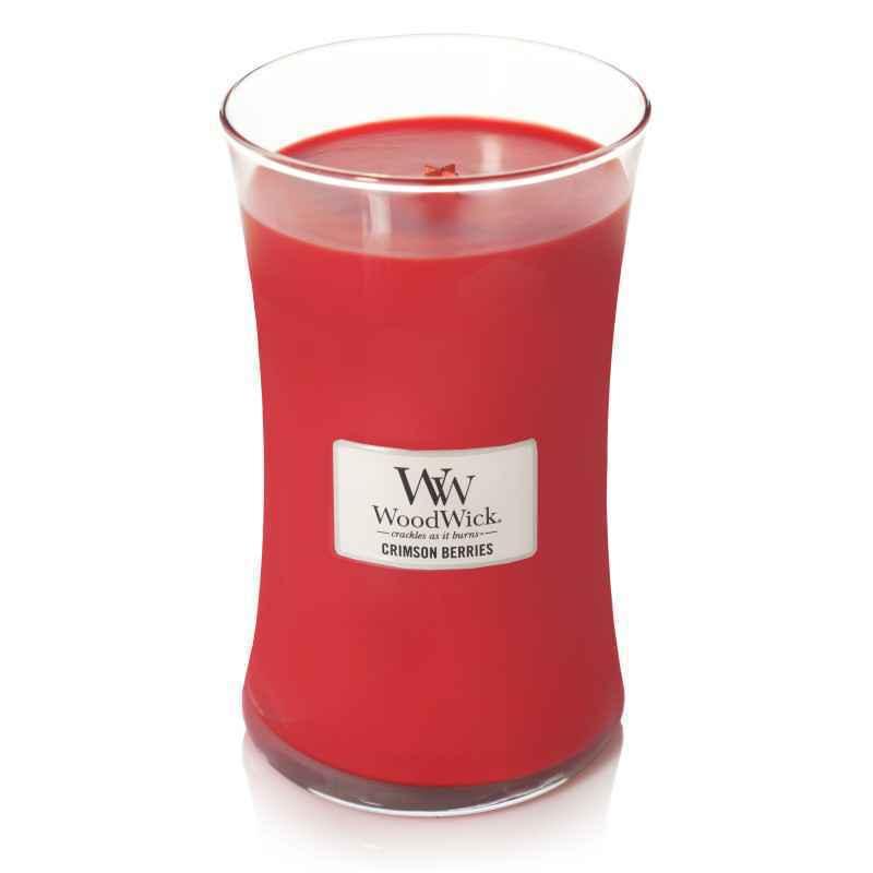 WoodWick Crimson Berries - duża świeca zapachowa - candlelove