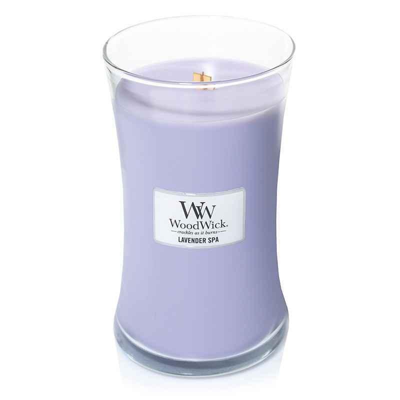 WoodWick Lavender Spa - duża świeca zapachowa - candlelove