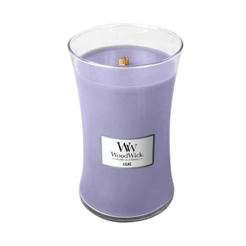 WoodWick Lilac - duża świeca zapachowa - candlelove