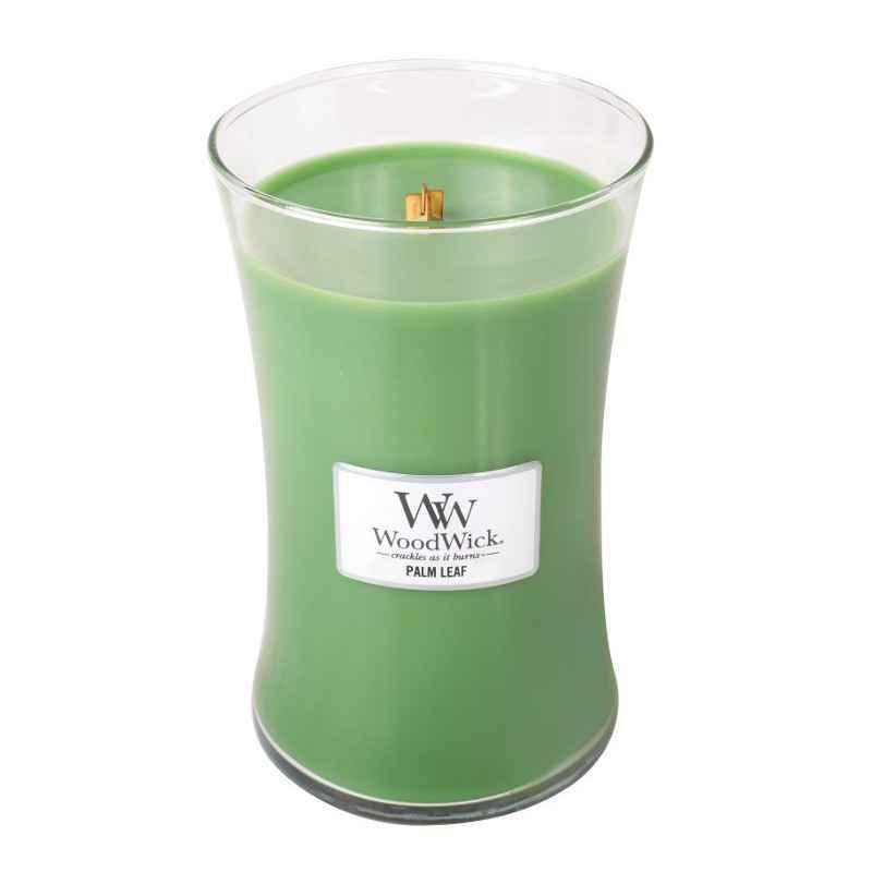 WoodWick Palm Leaf - duża świeca zapachowa - candlelove