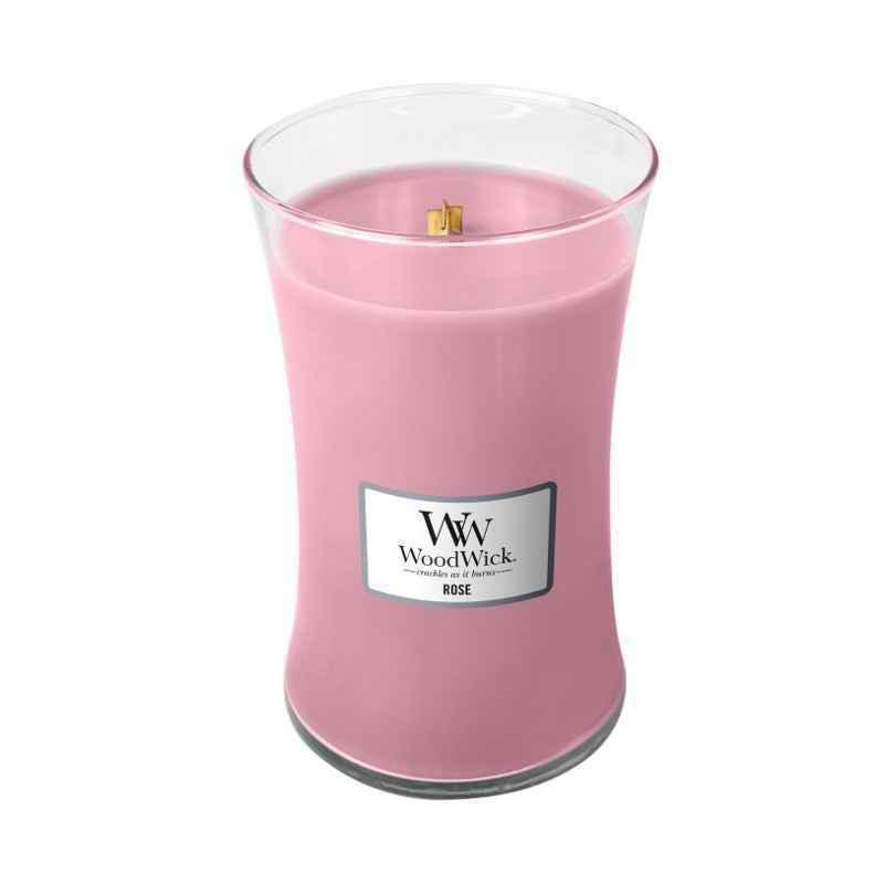 WoodWick Rose - duża świeca zapachowa - candlelove