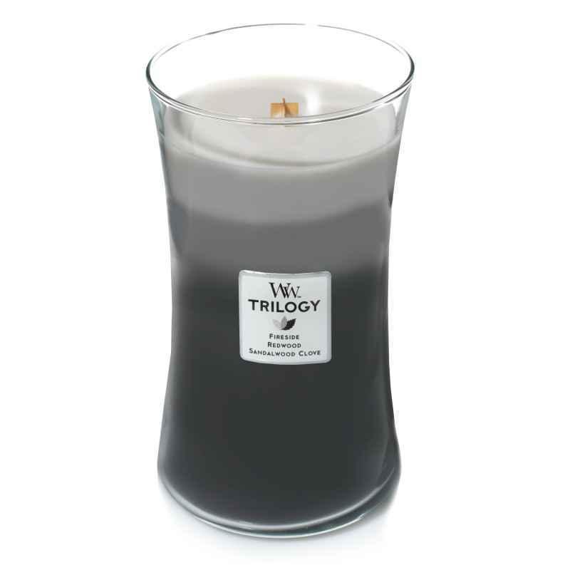 WoodWick Warm Woods - duża świeca zapachowa - candlelove
