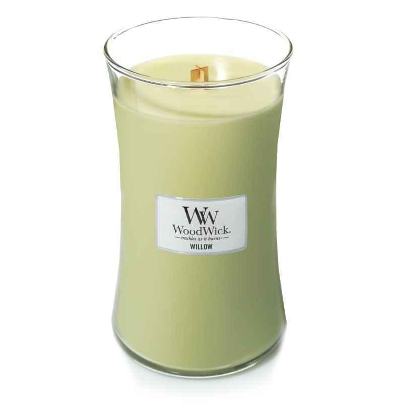WoodWick White Willow Moss - duża świeca zapachowa - candlelove