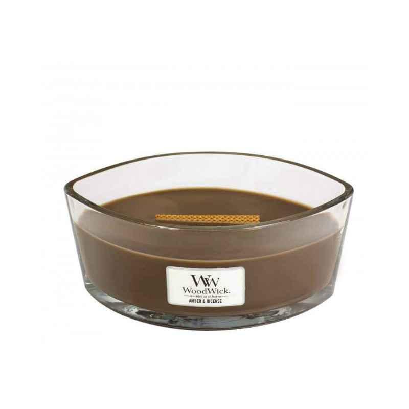 WoodWick Amber & Incense - świeca zapachowa Elipsa - candlelove