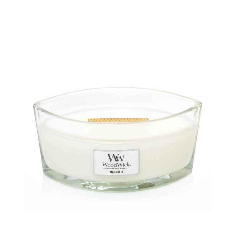 WoodWick Magnolia - świeca zapachowa Elipsa - candlelove