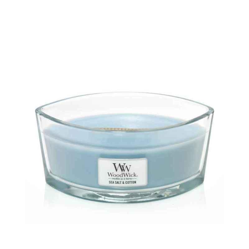 WoodWick Sea Salt & Cotton - świeca zapachowa Elipsa - candlelove
