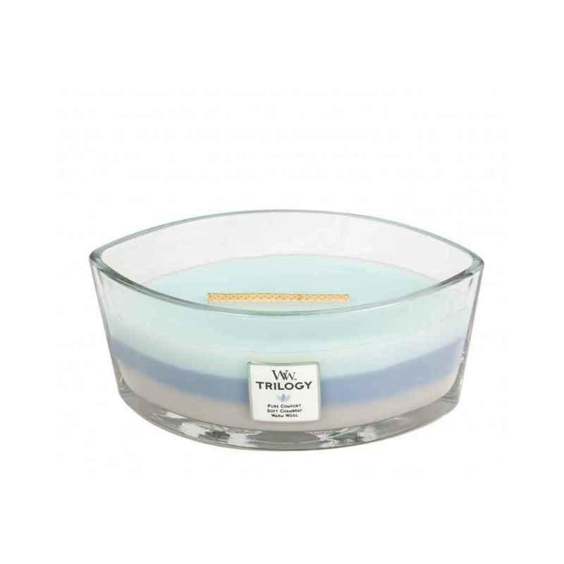 WoodWick Woven Comforts - świeca zapachowa Elipsa - candlelove