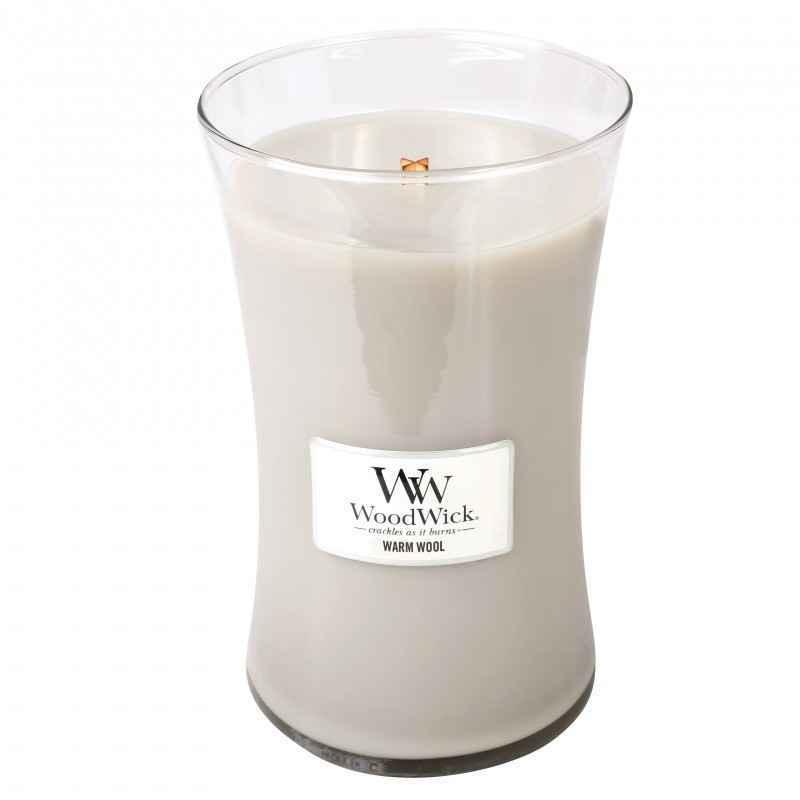 WoodWick Warm Wool - duża świeca zapachowa - e-candlelove
